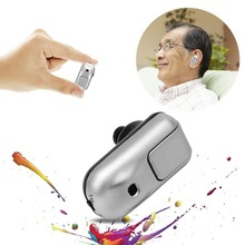 Hearing Aid Digital In Ear Amplifier Hearing Aids Device Silver ABS Personal Ear Care Tools