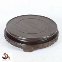 wood annatto handicraft circular base of real wood of Buddha stone vases, act the role ofing is tasted furnishing articles(China)
