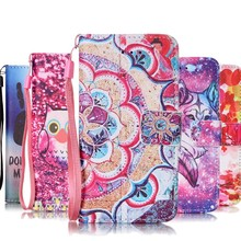 Case for apple iphone 5 5S 5G SE 6S 6 6S plus iphone 7 7 plus cove 3d printer flower Flip Wallet Leather Card Holder phone case(China)