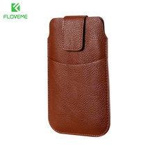 FLOVEME Universal Mobile Phone Bags Case For iPhone 6 6s Plus 7 Plus Cover PU Leather Men Purse Wallet Pouch For iPhone 5 5S SE