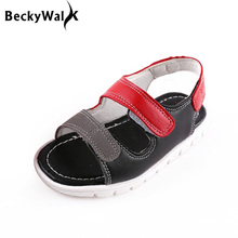 New Fashion Beach Children Shoes for Boy Kids Shoes Open Toe Soft Sole Baby Toddler Shoes Boys Sandals SummerCSH333(China)