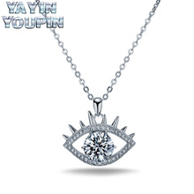 YA YIN YOU PIN S925 Pure Silver Necklace Eye Modeling Light And Exquisite Shiny Eye-Catching Professional Jewelry Shop