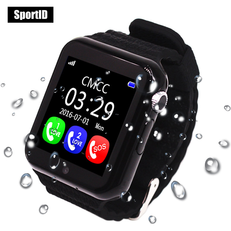 Smart Watch Children GPS Kids Safe Monitor with Camera Support SIM /TF Dial SOS Call Positioning Tracker V7K Wristwatch Android<br>