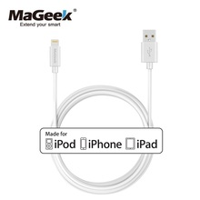 MaGeek 3.0m/10ft Extra Long Mobile Phone Cables MFi Lightning to USB Cable for iPhone 7 7 Plus 6 6s 5 iPad 4 mini Air iOS 8 9 10(China)