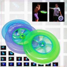1pcs Colorful Spin LED Light Outdoor Toy Children Beach Toys UFO Frisbee Ball Flying Saucer Disc Frisbee Kid Toy Arrow(China)