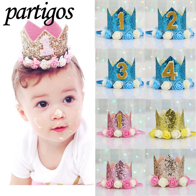 Happy First Birthday Party Hats Decor Cap One