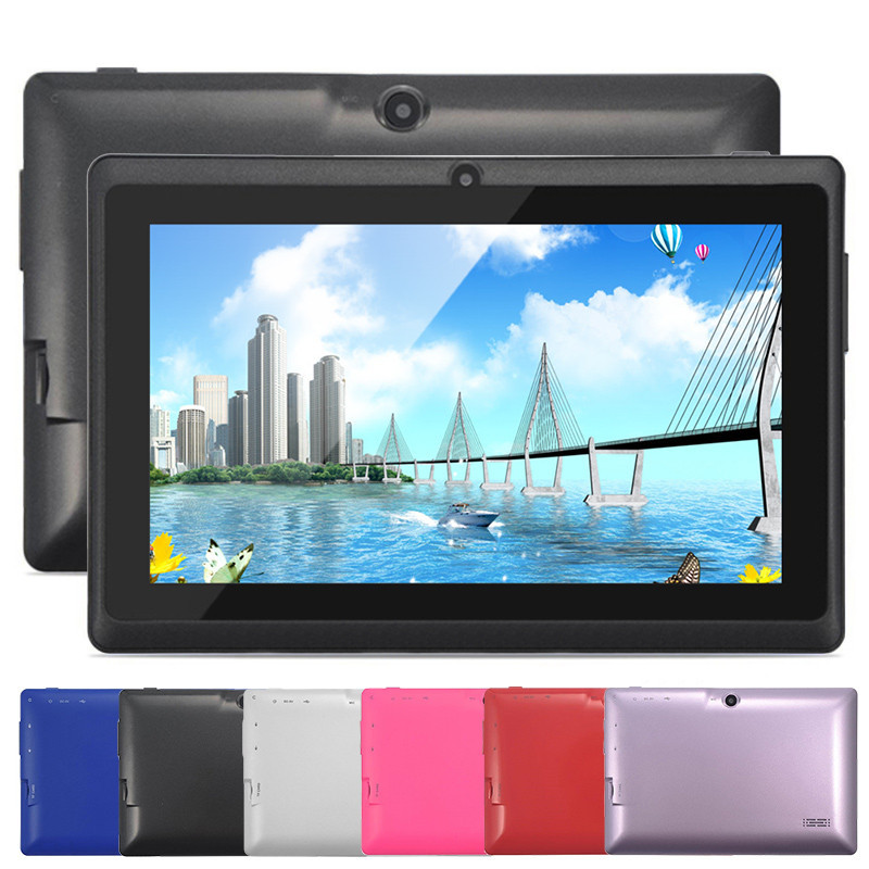 "Cheap Tablet PC 512+ 8GB Multi-Color 7"" Android 4.4 Allwinner A33 Quad Core 1.5GHz Android Tablet Free Shipping(China (Mainland))"