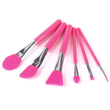 6pcs Unique Mask Silicone Brush BB Cream Concealer Eyeliner Gel Lip Professional Makeup Brushes Set Cosmetic Makeup Tools #90959(China)