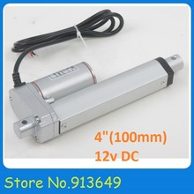 100mm/ 4 inch stroke Mini Linear Tubular motor motion, 900N/90KG/198LBS load electric linear actuator 12v hot sale(China)
