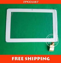 Free shipping 10.1 inch  touch screen digitizer touch panel glass for Sanei N10 Ampe A10 white Tablet PC MID TPC0187 VER 1.0