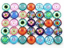 New Fashion Hot Sale 50pcs 8mm and 10mm Mixed Flower Handmade Photo Glass Cabochons(China)