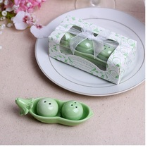 100 Boxes Bean Ceramic Salt and Pepper Shakers Wedding Favors Salt Peper Shakers Wedding Gifts