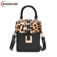 Buy 2017 New Children Leopard printing small box package rivets box handbag shoulder bag Women Messenger bag tide package L4-3182 for $13.98 in AliExpress store