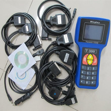 High Professional English Or Spanish Blue/Black T300 Auto Key Programmer T 300 V15.8 T-CODE For Multi-Brands DHL Free