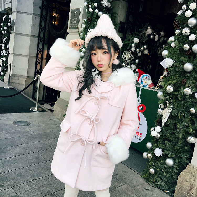Princess sweet lolita student sweater BOBON21 Girl in pink  tender coarse wool knitted hat AC1442Одежда и ак�е��уары<br><br><br>Aliexpress