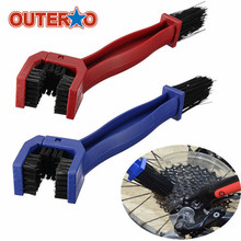 OUTERDO Nylon & ABS Bicycle Chains Cleaner Cycling Brake Dirt Remover Tool Motorcycle Bike Chain Tire Maintenance Cleaning Brush(China)