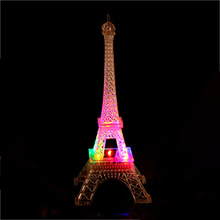 Seven color light tower night market stall Paris fashion flash light source Eiffel Nightlight manufacturers(China)