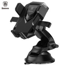 Baseus Robot Car Phone Holder Universal 360 Degree Telescopic Sucker Suction Cup Mount Holder Stand For iPhone 7 6 Samsung(China)