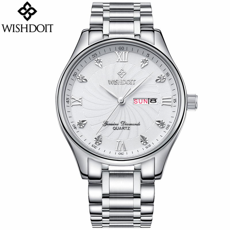 2017 Hot Selling montres Luxury Brand Mens Watches Business Casual Stainless Steel Waterproof Quartz Watch relogio masculino <br>