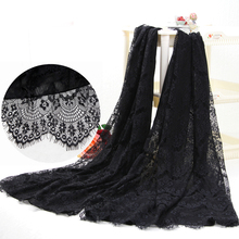 Hot-selling 2017 women black white soft chiffon lace patchwork scarf scarf thermal cape all-match