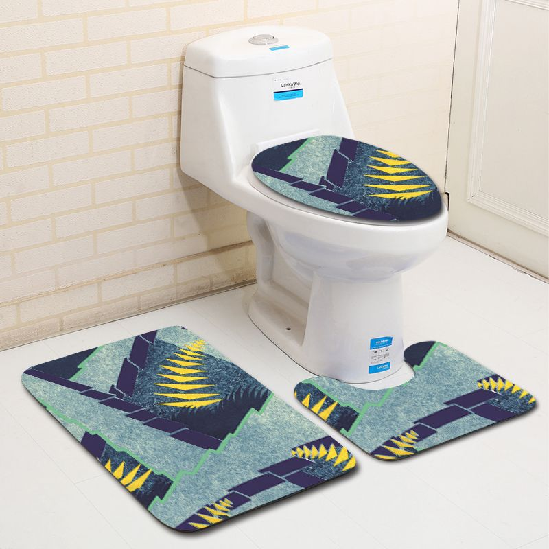 2019 Fashion Abstract Painting Bath Mat Decoration Flannel Printing