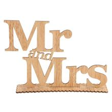 Mr And Mrs Wooden Letters Party Wedding Decoration Event Party Supplies(China)