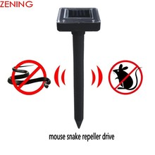 Outdoor Mouse Repeller Solar Powered Ultrasonic Mole Snake Bird Mosquito Pest Reject Repeller Control for GardenYard Field Grass