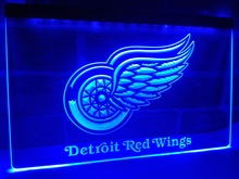 LD086- Detroit Red Wings   LED Neon Light Sign     home decor  crafts