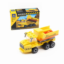 KAZI City Construction Engineering Dump Trucks Building Block set Assemble Educational Model Bricks Toys For kids Birthday Gifts
