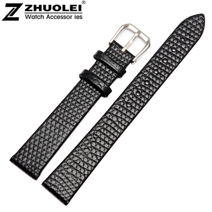 12mm 14mm 16mm 18mm 20mm High Quality Mens Ladies Black Genuine Soft Leather Watch Band Strap<br><br>Aliexpress