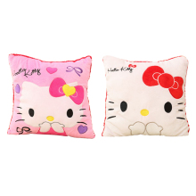 35*35CM Super Kawaii Hello Kitty Pillows Soft Back Cushion Stuffed Plush Toys Baby , Good Quality Special Offer Girl's Toy