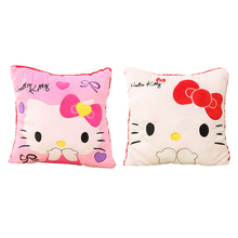 35*35CM Super Kawaii Hello Kitty Pillows Soft Back Cushion Stuffed Plush Toys Baby , Good Quality Special Offer Girl's Toy(China)
