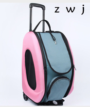 Dog Carrier Pet luggage Small Animal Pet Puppy Rabbit Cat Carrier Rolling Luggage(China)