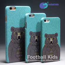 New 2016 Custom Design Hot Sale DIY Cool Black Bear Cell Phone For iphone 6 6S,Competitive Price Free Shipping PC Phone Cover