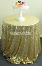 Size Available! 108'' Round Light Gold Sequin Table Cloth Cake Table Sequin Tablecloth Wholesale Sequin Table Cloths
