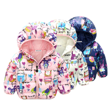 2017 Winter Children Jacket Bow Hoodies Children Coat Girls Clothes Kids Jackets Warm Outerwear Fashion Coat for Girls Clothing