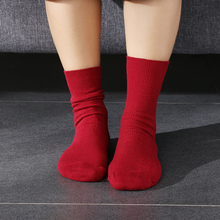 1Pair Women Girl Soft Warm Cotton Ankle Heap Knitted Crochet Socks Casual Solid Color Hosiery Winter Warm