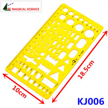 17cm plastic Electrical templates Students' Physical electrical Drawing ruler Circuit design drawing board KJ006(China)