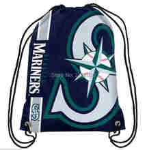 Seattle Mariners Drawstring Bags Men Sports Backpack Digital Printing Pouch Customize Bags 35*45cm Sports US Baseball Team(China)