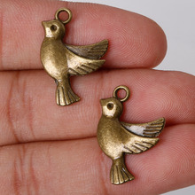 Fashion 8pcs 22*16mm Antique Bronze Plated Charms Pigeon Pendants Alloy Charms Jewelry Findings for DIY Vintage Choker Necklace