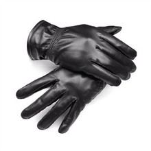Genuine leather gloves Villi lining winter warm lamb skin gloves Motorcycle Cycling Leather Gloves for Men Women Kids