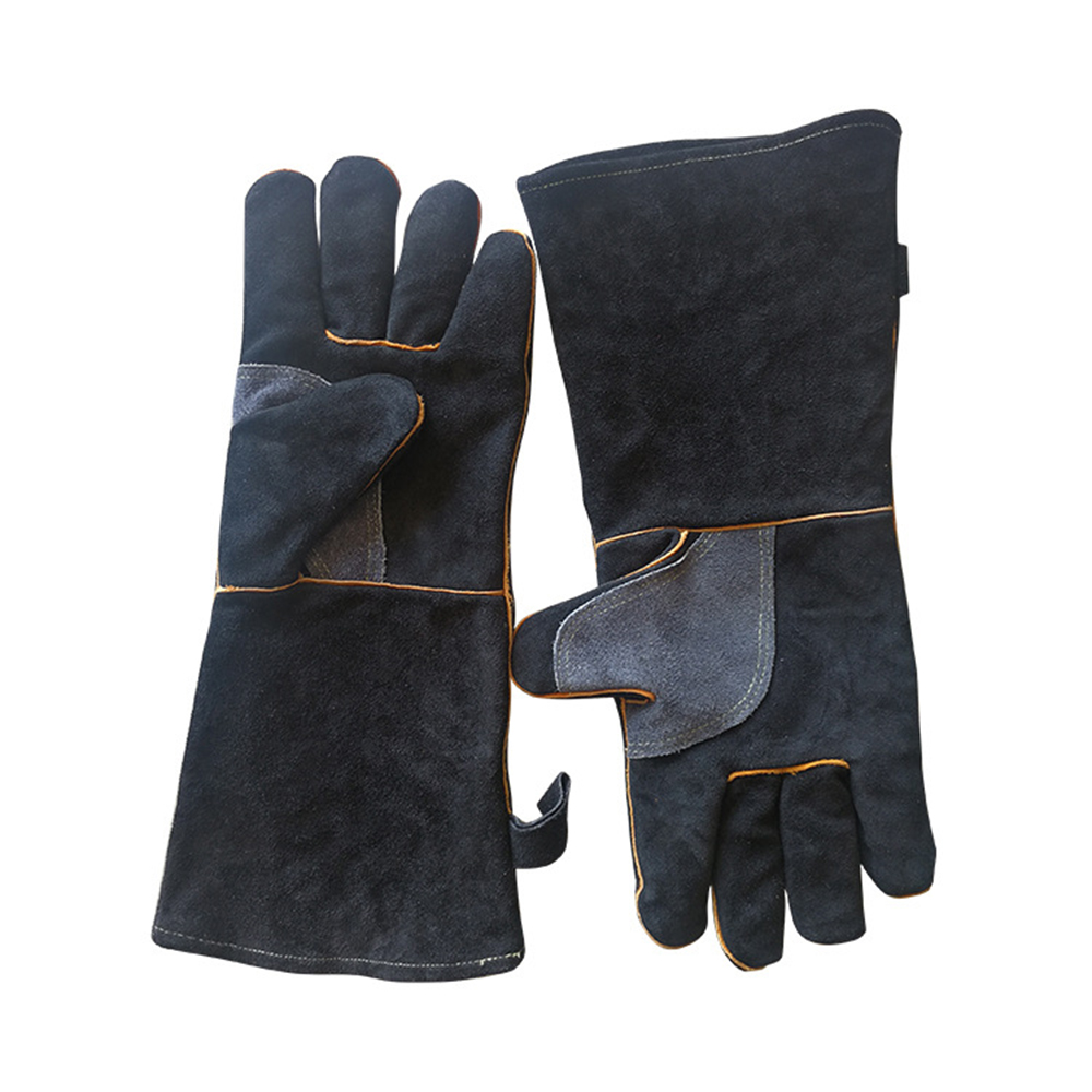 Welders Gloves Leather,Professional Welding Gloves,Breathable Heat//Fire for//Fireplace//TIG//Barbecue//Oven//Wood Stove//Cooking//Baking