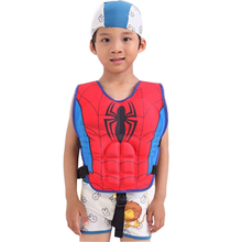 Carton Super Hero Bat Spider Man Child Life Vest Jacket Kids Lifejacket Fishing Life Jacket for Children Swimming Vest
