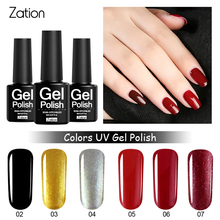 Zation Gel Enamel Nail Gel Nail Paint Gel Lacquer Colorful Nail Art Polish Primer Nail Polish Varnish Gel Polish Top Base Coat(China)