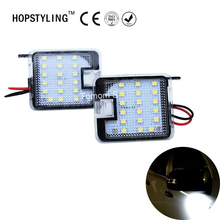 Hopstyling 2Pcs for Ford Kuga Focus LED Side Mirror Puddle Light Led Under Mirror Light Car-styling Auto Replacement HOPSTYLING(China)