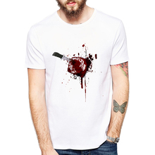 2018 newest design Cool summer short sleeve men's funny t-shirts tee fashion Get shot I am fine blood gift(China)
