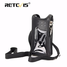 New Walkie talkie Holster RT82 Case Leather Carrying Holder For TYT MD-2017 Retevis RT82 vhf uhf dual band DMR radio Accessories(China)