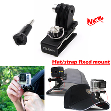 2016 New Go Pro Holder fixed Mount,Aluminum Hat/backpack Stable Clip clamp Mount for GoPro Hero 5 3/4,SJCAM, Xiaomi Yi 4K Camera