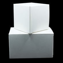 6*6*6cm White Cardboard Folding Paper Packaging Boxes For Birthday Party Gift Craft Cake Business Card Comestic Packing Pack Box