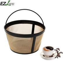 EZLIFE Coffee Filter Baskets Plastic Stent & Metal Filter Cloth Acid-proof Alkali Resistance Coffee Tea Accessories #720